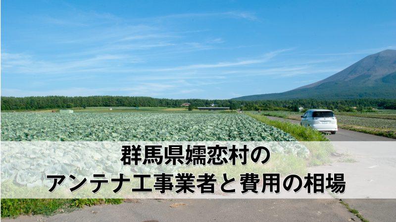嬬恋村でおすすめのアンテナ工事業者6社と取り付け費用・相場