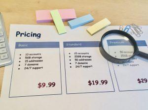 料金の比較