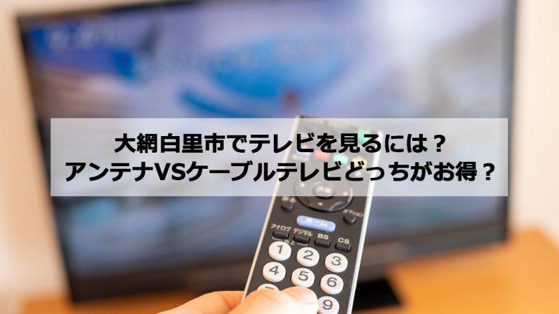 大網白里市で加入できるケーブルテレビ(CATV)とアンテナ工事の料金の比較