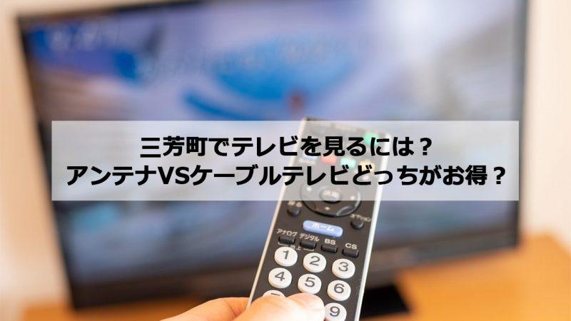 入間郡三芳町で加入できるケーブルテレビ(CATV)とアンテナ工事の料金の比較