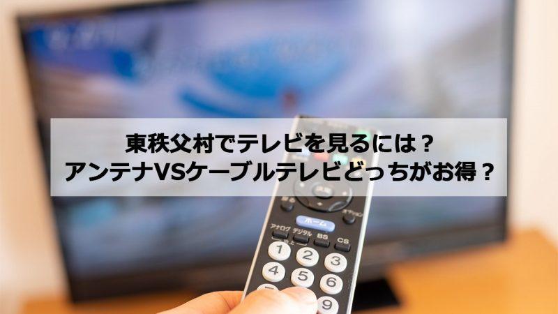 秩父郡東秩父村で加入できるケーブルテレビ(CATV)とアンテナ工事の料金の比較